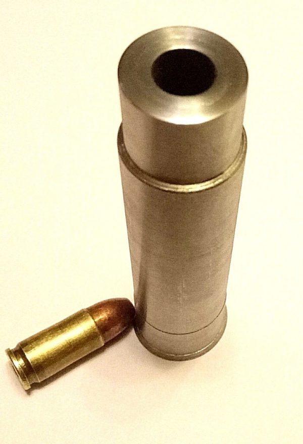 s l1600 2 2 600x880 - 12 Gauge to 9mm Luger Shotgun Barrel Adapter LONG Chamber Reducer